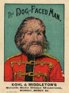 Victorian-Freak-Show-Posters-Kohl-^-Middletons-The-Dog-Faced-Man